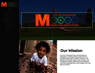 massillonparks.com screenshot