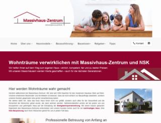 massivhaus-zentrum.de screenshot