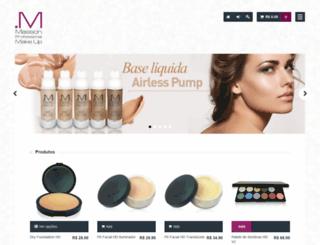 massonmakeup.com.br screenshot