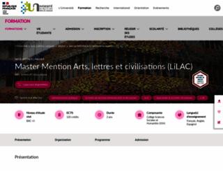 master-lc.univ-pau.fr screenshot