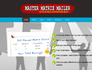 master-matrix-mailer.com screenshot
