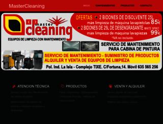 mastercleaning.es screenshot