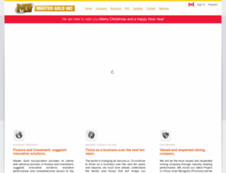 mastergold-inc.com screenshot