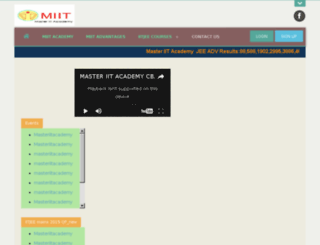 masteriitacademy.com screenshot