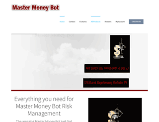 mastermoneybot.com screenshot