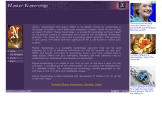 masternumerology.com screenshot