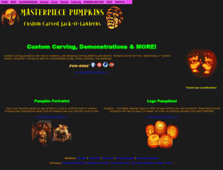 masterpiecepumpkins.com screenshot