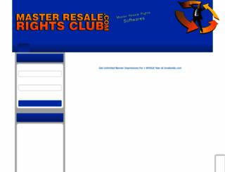 masterresalerightsclub.com screenshot