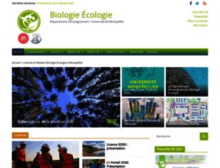 masters-biologie-ecologie.com screenshot