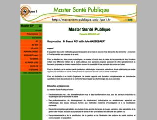 mastersantepublique.univ-lyon1.fr screenshot