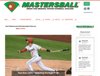 mastersball.com screenshot