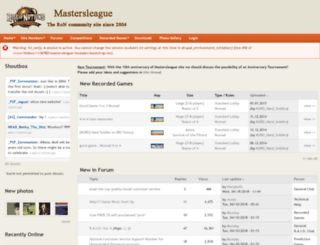 mastersleague.net screenshot