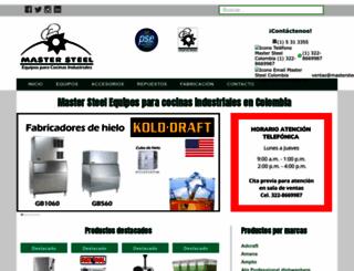 mastersteel.com.co screenshot