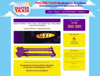 mastertaxis.co.uk screenshot