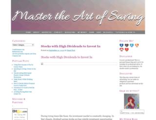 mastertheartofsaving.com screenshot