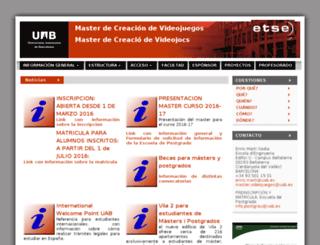 mastervideojocs.uab.es screenshot