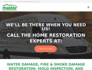 masterwaterfirerestoration.com screenshot