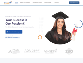mastery-academy.com screenshot