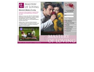 masteryofloving.com screenshot