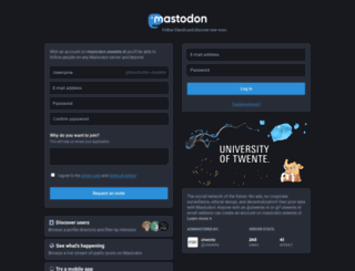 mastodon.utwente.nl screenshot