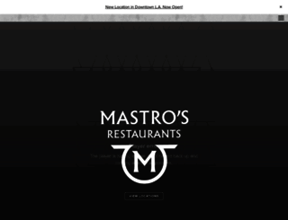 mastrosrestaurants.com screenshot