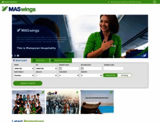 maswings.com.my screenshot