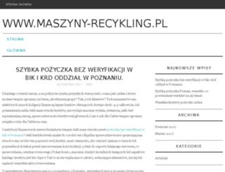 maszyny-recykling.pl screenshot