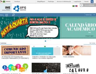 mat.ufg.br screenshot