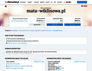 mata-wiklinowa.pl screenshot