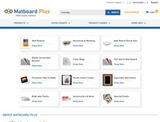 matboardplus.com screenshot