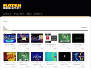 matchhighlight.com screenshot