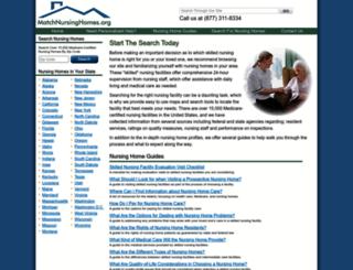matchnursinghomes.org screenshot
