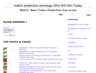 matchpredictionastrology.com screenshot