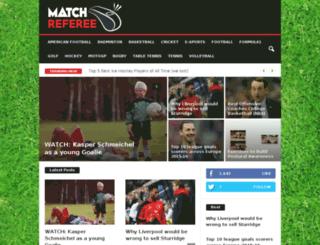 matchreferee.com screenshot