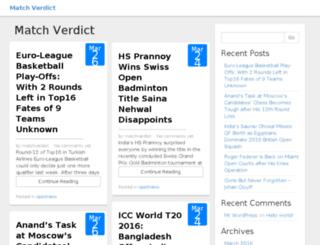 matchverdict.com screenshot