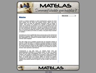 matelas.web-informations.com screenshot