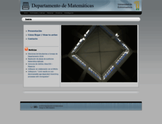 matematicas.unex.es screenshot