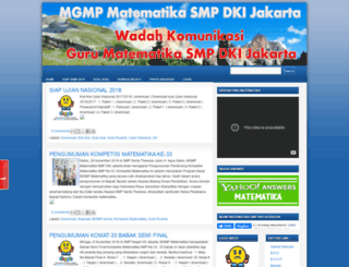 matematikasmpdkijakarta.blogspot.com screenshot