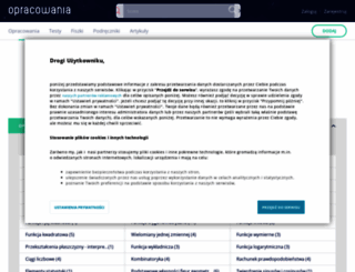matematyka.opracowania.pl screenshot