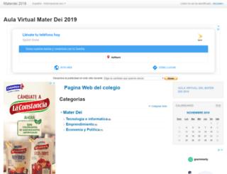 materdei.milaulas.com screenshot