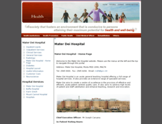materdeihospital.org.mt screenshot