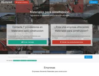 materiales-para-construccion.infored.com.mx screenshot