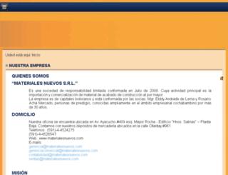 materialesnuevos.com screenshot