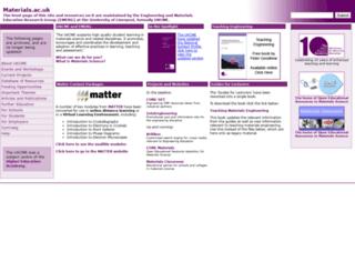 materials.ac.uk screenshot
