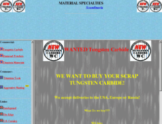 Access materials com  Material Specialties Scandinavia, Inc