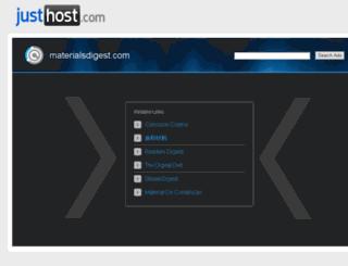 materialsdigest.com screenshot