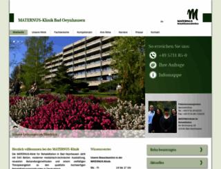 maternus-klinik.de screenshot