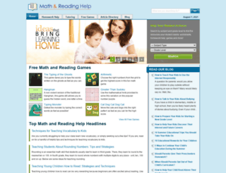 math-and-reading-help-for-kids.org screenshot