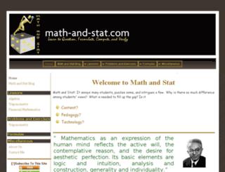 math-and-stat.com screenshot