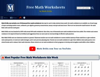 math-drills.com screenshot